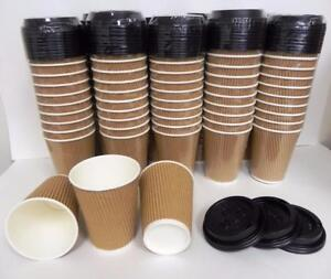 Liquidation Sales Coffee Cups with Lids 12 oz ( 100 boxes available)