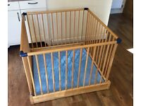 John Lewis Foldable Wooden Playpen