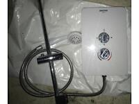 White electric shower