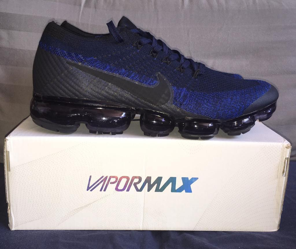 sports shoes 2784f 56371 Nike Air Vapormax Flyknit Dark Blue Navy Mens Trainers UK 7 BNIB