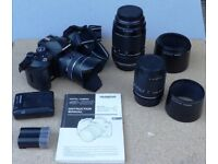 Three Olympus Zoom Lenses - 14-45, 40-150 and 70-300mm Four Thirds Fitting
