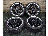 """19"""" Alloy wheels tyres 5x112 Audi A3 A4 VW Golf MK5 Caddy MK2 TT Vito Leon"""