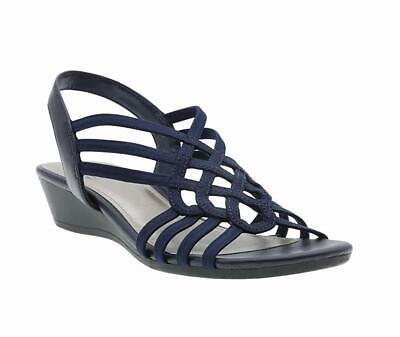 Impo Womens Roma Open Toe Casual Strappy Sandals, Navy, Size 10.0 lI3v