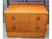 Mid-century oak two drawer chest