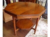Stunning Victorian Octagonal Mahogany Table - WE CAN DELIVER