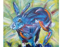 Marilyn Allis Hare Original acrylic painting