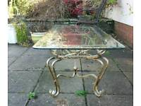 Shabby chic glass coffee table.