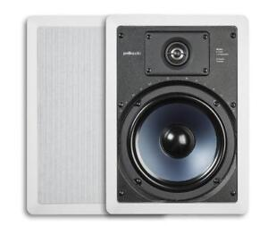 NEW Polk Audio RC85i 2-Way In-Wall Speakers (Pair, White)