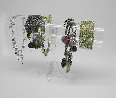 Acrylic Tubular Display Bangle Bracelet Necklace Jewelry Jewellery Charms Stand