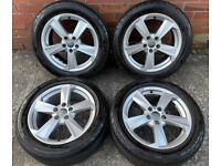 "17"" GENUINE AUDI Q2 5 SPOKE ALLOY WHEELS TYRES ALLOYS 81A601025B 5x112"