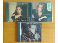 Three Michael Bolton CDs - The one thing, Time love & Tenderness, Timeless the classics