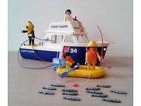 Vintage Playmobil Coastguard Fishing Diving Set. (Great Xmas Gift)