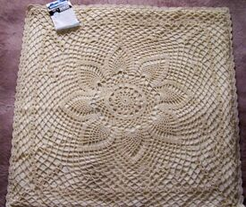Four Cream Lace cushion covers. Beautiful.