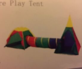 Brand New, unopened. Play tents / tunnel combination, suitable for 1-3 year olds