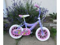 Girls bike Glitter bug 2 wheeler brakes adjustable height FREE DELIVERY WITHIN LE3 LEICESTER