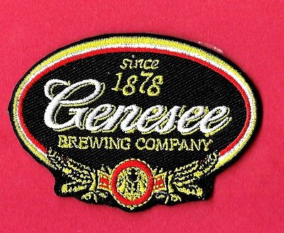 "New Genesee Beer 'Black'  3 X 2""   Inch  Iron on patch Free Shipping"