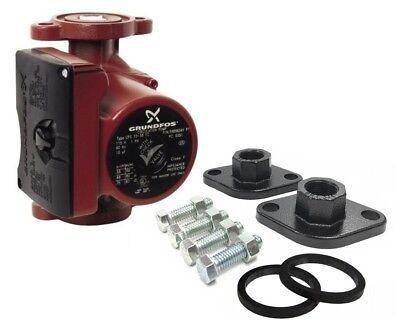 Grundfos Ups15-58frc 3-spd Circulator Pumpifc 59896343 With 1 Black Flanges