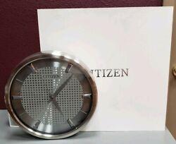 CITIZEN CC2008 Gallery Silver-Tone Metal Wall Clock