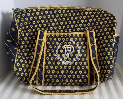 - RARE Victorias Secret PINK Quilted JET SET Varsity Carry On Duffel Blue Yellow