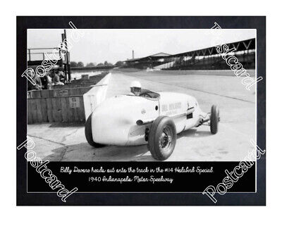 Historic Billy Devore in the #14 Holabird Special 1940 Indy Postcard