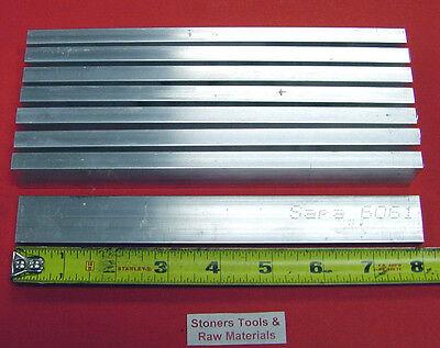 8 Pieces 38 X 1 Aluminum 6061 Flat Bar 8 Long T6511 .375 Cut New Mill Stock