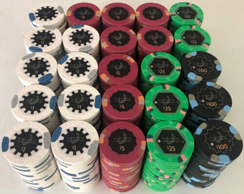 500 HORSESHOE CASINO PAULSON POKER CHIPS SET