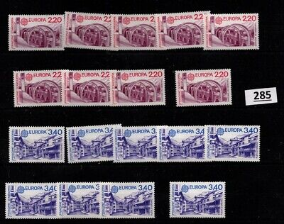 @ 9X FRENCH ANDORRA 1987 - MNH - EUROPA CEPT - ARCHITECTURE