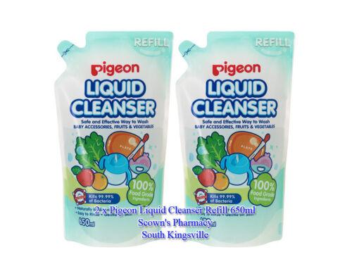 2 x Pigeon Liquid Cleanser Refill 100% Food Grade Ingredients 650ml