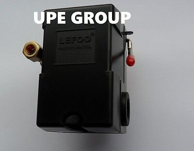 PRESSURE SWITCH CONTROL AIR COMPRESSOR 140-175  1 PORT HEAVY DUTY  26 AMP