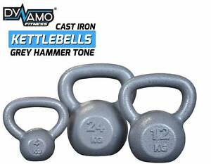 Kettlebells Cast Iron Grey Hammer Tone, NEW From 4-32kg Malaga Swan Area Preview