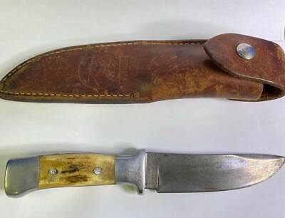 "Vintage R.H. Ruana Bonner Montana Knife ""Knife Stamp"" w/ Original Sheath"