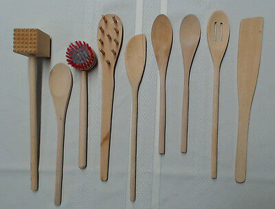 Wood Kitchen Tools - Wooden Cooking Mixing