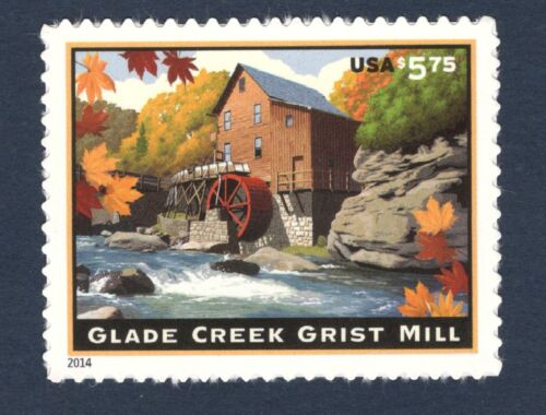 4927 Us Priority Mail Single Glade Creek Grist Mill Mint/nh Free Shipping