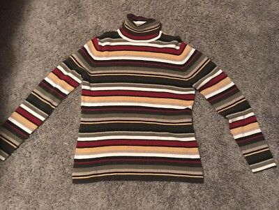 Vintage 70s Ribbed Striped Sweater