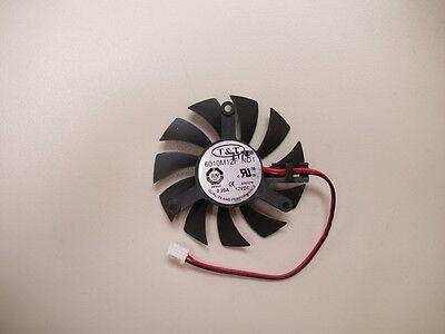 (55mm VGA Fan For ATI Nvidia Video Card T&T 6010M12F ND1 2 Pin)