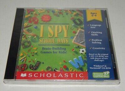 SCHOLASTIC - I SPY: SCHOOL DAYS PC CD-ROM BRAIN-BUILDING GAME FOR WINDOWS/MAC (Games For School)