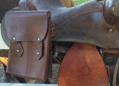 Vintage US Military Leather Saddle Bag 4 Mag Magazine Motorcycle Horse Western