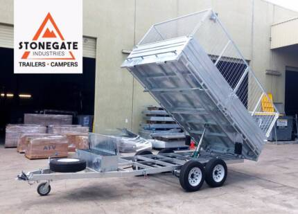 $2500 OFF - Only 2 Left! 12x7 Flat Top Hydraulic Tipper Trailer