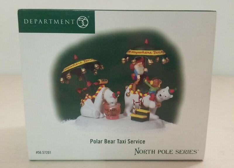 Department 56 North Pole Series Polar Bear Taxi Service #56.57201 Fare One Fish