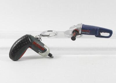 Bosch === 2 x Mini Werkzeug Akkuschrauber + Flex Werbefiguren Reklame Figur