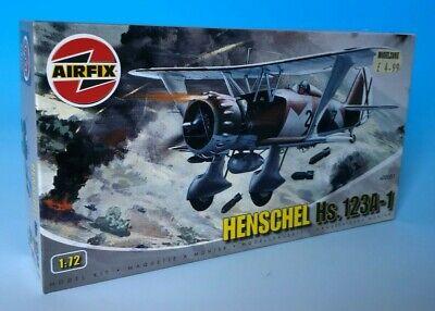 Airfix 1:72 Henschel Hs.123A-1 Model Nos A02051 Rare Release Edition