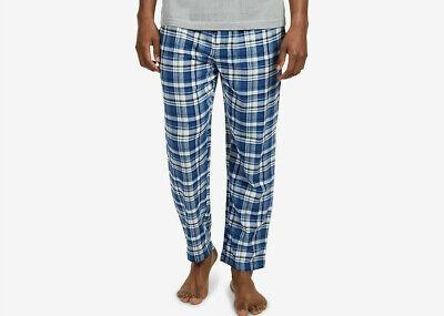 Nautica Mens Soft Flannel Pajama Pant/Lounge Pants, Blue Check, XL