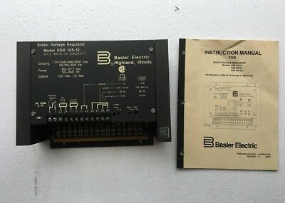 Basler Electric Static Voltage Regulator SVR SSR 125-12 P/N 9 1859 00 102 *New*