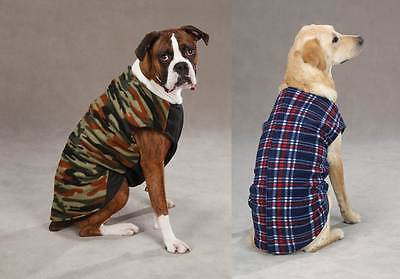 Zack & Zoey PLAID or CAMO FLEECE RIPSTOP DOG VEST JACKET COAT SMALL or XS ONLY