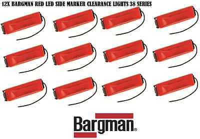 12X BARGMAN LED CLEARANCE SIDE MARKER LIGHT #38 SERIES RED TRUCK TRAILER NEW