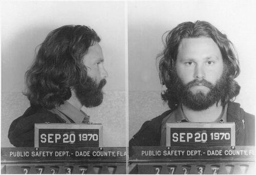 Jim Morrison Arrest Mug Shot High quality Photo Reproduction 2