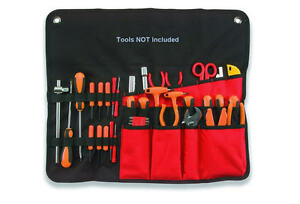 PLANO 12 Pocket Chisel/Screwdriver/Spanner Hand Tool Roll Storage Holder 558TB