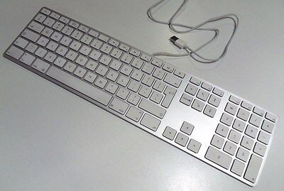 Genuine Apple Wired Aluminium Extended Keyboard A1243 UK qwerty iMac