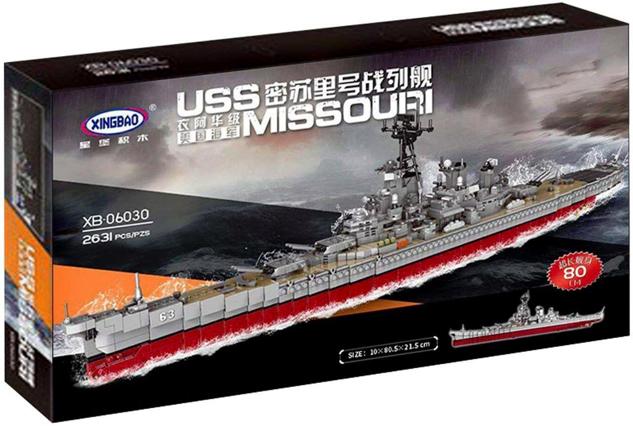 Xingbao Schlachtschiff USS Missouri Bausatz Modell Nr. XB-06030
