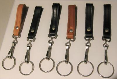 single key ring with leather belt strap